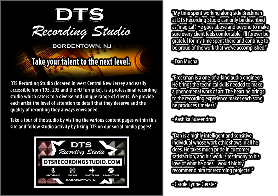Welcome to DTS Recording Studio